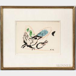 Marc Chagall (French/Russian, 1887-1985)      Coq à la Palette