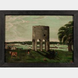 Richard Morrell Staigg (Rhode Island, 1817-1881)      Viking Tower, Newport, Rhode Island
