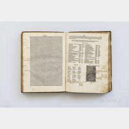 Lactantius, Lucius Coelius Firmianus (c. 250-c. 325) Opera, Venice: Bonetus Locatellus, for Octavianus Scotus, 1494 [bound with] Orosiu
