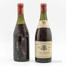 Savin Clos Vougeot 1926, 2 bottles