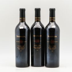 Beringer Vineyards Cabernet Franc Third Century 1997, 3 bottles