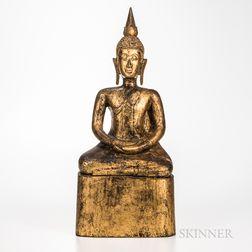 Gilt-ironwood Seated Buddha
