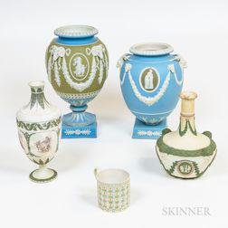 Five Pieces of Wedgwood Tricolor Jasperware