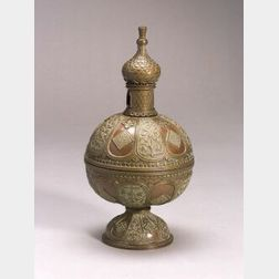 Mixed-Metal Orientalist Potpourri Incense Burner