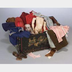 Kestner 129 Bisque Head and Kestner Composition Body with Wardrobe