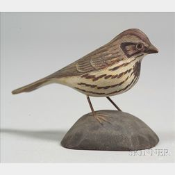 Jess Blackstone (1909-1988) Carved Miniature Song Sparrow