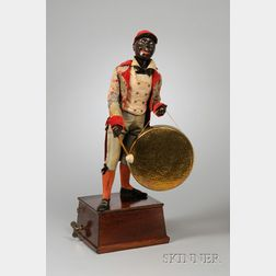 Rare Automaton of a Black Footman with Gong by Adolf Müller