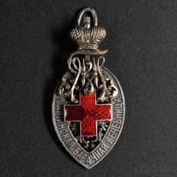 Russian Silver and Enamel Medal