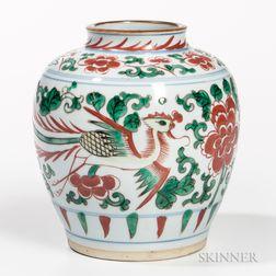 Small Wucai Famille Verte Jar