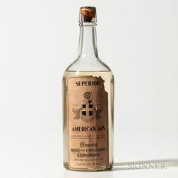 Superior American Gin, 1 quart bottle