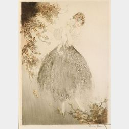 Louis Icart (French, 1888-1950)  Joueuse