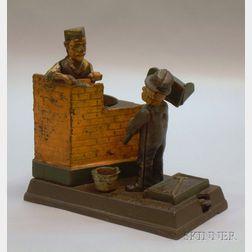"Reproduction Cast Iron Mechanical ""Mason Bank,"""
