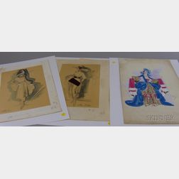 Group of Assorted Costume Designs and Other Ephemera