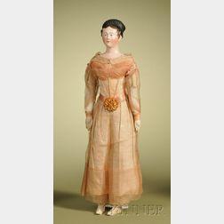 Papier-mache Lady with Coronet Braid