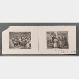 William Hogarth (British, 1697-1764)      A Harlot's Progress, Plates 1 - 6