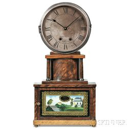 "Joseph Ives ""Brooklyn"" Accelerating Lever or ""Wagon Spring"" Shelf Clock"