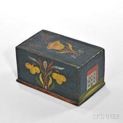 Paint-decorated Pine Trinket Box