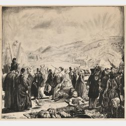 George Bellows (American, 1882-1925)      Irish Fair