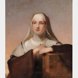 "Thomas Sully (American, 1783-1872)      Study for Frances Anne Kemble as Isabella in ""Measure for Measure"""