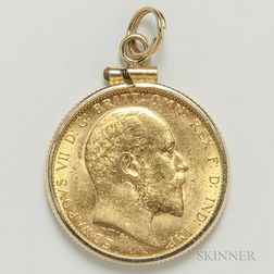 1908-M British Gold Sovereign