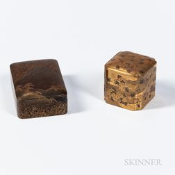 Two Gold-lacquered Boxes