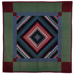 Amish Square Pattern Quilt