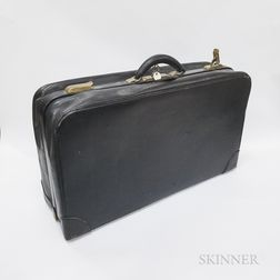 Two Pieces of Brass-bound Leather Luggage