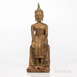 Thai Seated Buddha on Lotus Throne