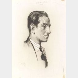 Charcoal sketch of George Gershwin by Samuel Johnson Woolf (1880-1948)