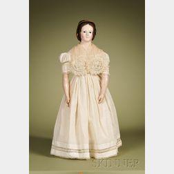 Papier-mache Lady with Rare Human Hair Wig