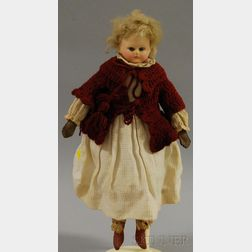 German Cuno & Otto Dressel Composition Doll