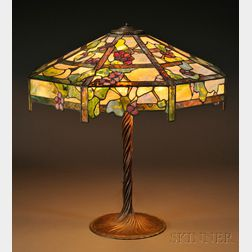 Mosaic Glass Trellis Table Lamp