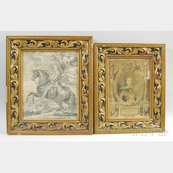 Two Engravings of Nobility
