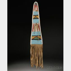 Crow Buffalo Hide Pouch Made from the Flap on a Bowcase and Quiver