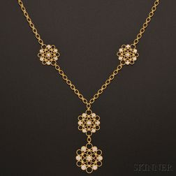 """18kt Gold and Diamond """"Maria"""" Necklace, Buccellati"""