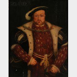 British School, 18th Century Style      Portrait of Henry VIII