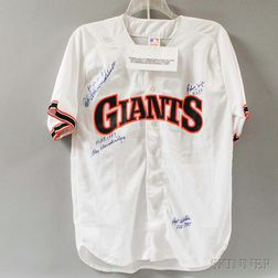 Hall of Fame Autographed Giants Baseball Jersey