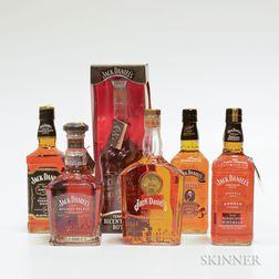 Mixed Jack Daniels, 6 750ml bottles