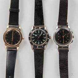 Omega Seamaster and Two Other Wristwatches