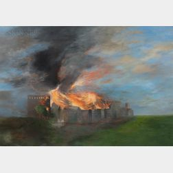Robert Ferrandini (American, b. 1948)      Firestorm (Boston 1872)