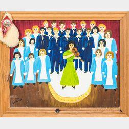 Folk Art Christmas at the White House 1992   Framed Painting