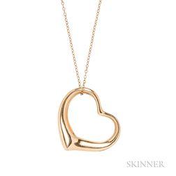 18kt Gold Heart Pendant, Elsa Peretti, Tiffany & Co.