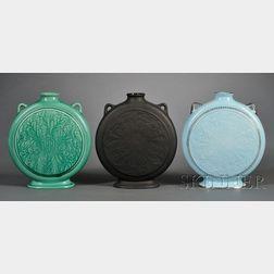 Three Wedgwood Norman Wilson Design Pilgrim Vases
