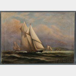 C. Myron Clark (Massachusetts, 1858-1925)      Yacht Race.