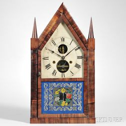 Silas B. Terry Balance Wheel Steeple Clock