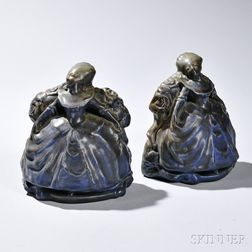Pair of Rookwood Colonial Belles Bookends