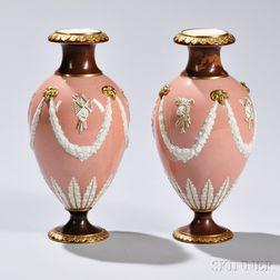 Pair of Wedgwood Victoria Ware Vases