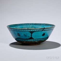 Large Turquoise and Black Bowl