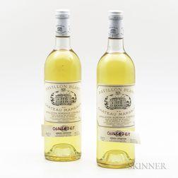 Pavilion Blanc 1978, 2 bottles