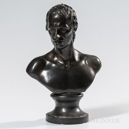 Wedgwood & Bentley Black Basalt Bust of Sterne